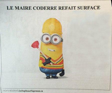 caricature Coderre flushgate