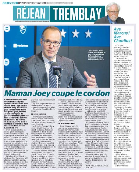 Maman Joey coupe le cordon - Le Journal de Montréal