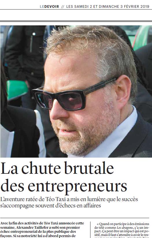 La chute brutale des entrepreneurs - Le Devoir