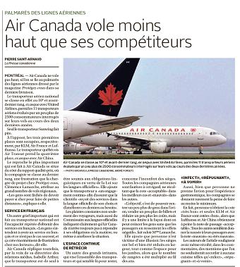 Air Canada vole moins haut que ses compétiteurs - Le Soleil