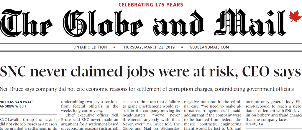 The Globe and Mail - SNC-Lavalin