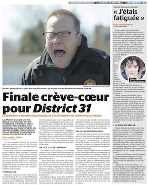Finale crève-coeur pour District 31 - Journal de Montréal