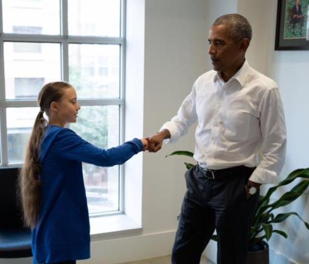 Greta Thunberg et Barack Obama